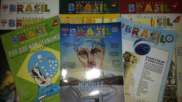 Algumas edições da Almanaque Brasil. Foto: ViniRoger