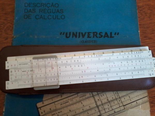 Régua de cálculo. Foto: ViniRoger