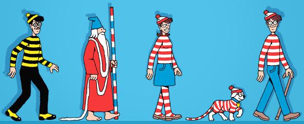 Personagens principais. Fonte: jogo Where's Wally, disponível em Jogo do Dia