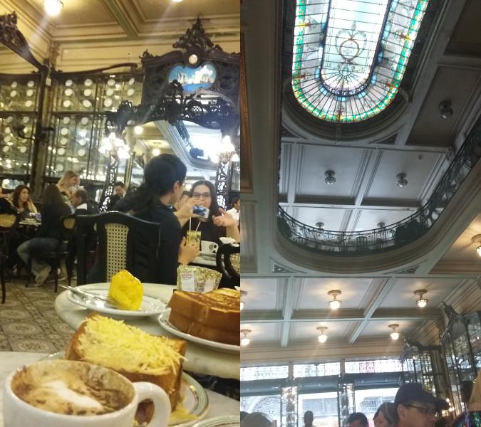 Confeitaria Colombo, no centro do Rio de Janeiro: Torradas Petrópolis, Americana, café e trouxinha de ovos. Fotos: ViniRoger