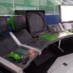 Antigos equipamentos da sala de controle de voo