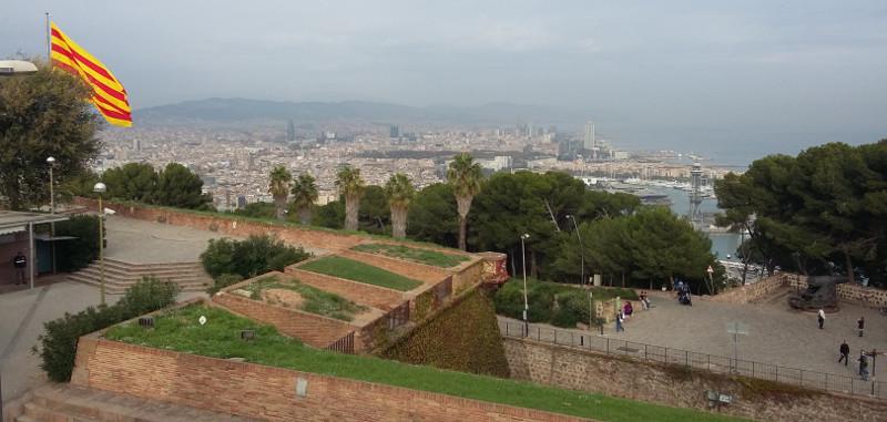 Vista de Barcelona a partir do Castell de Montjuïc. Foto: ViniRoger