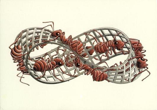 fita de moebius Escher