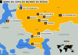 mapa das sedes