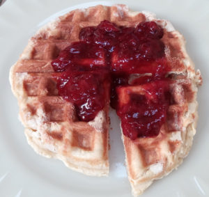 waffle morango