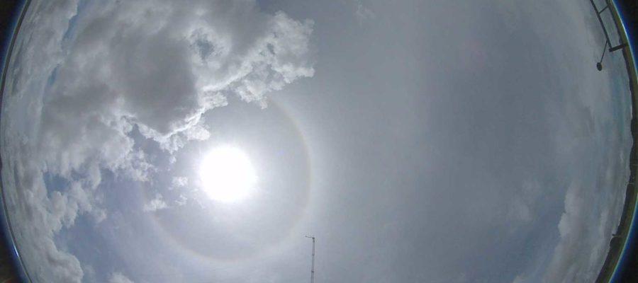 Imagem obtida com câmera all sky. Fonte: LABREN/INPE
