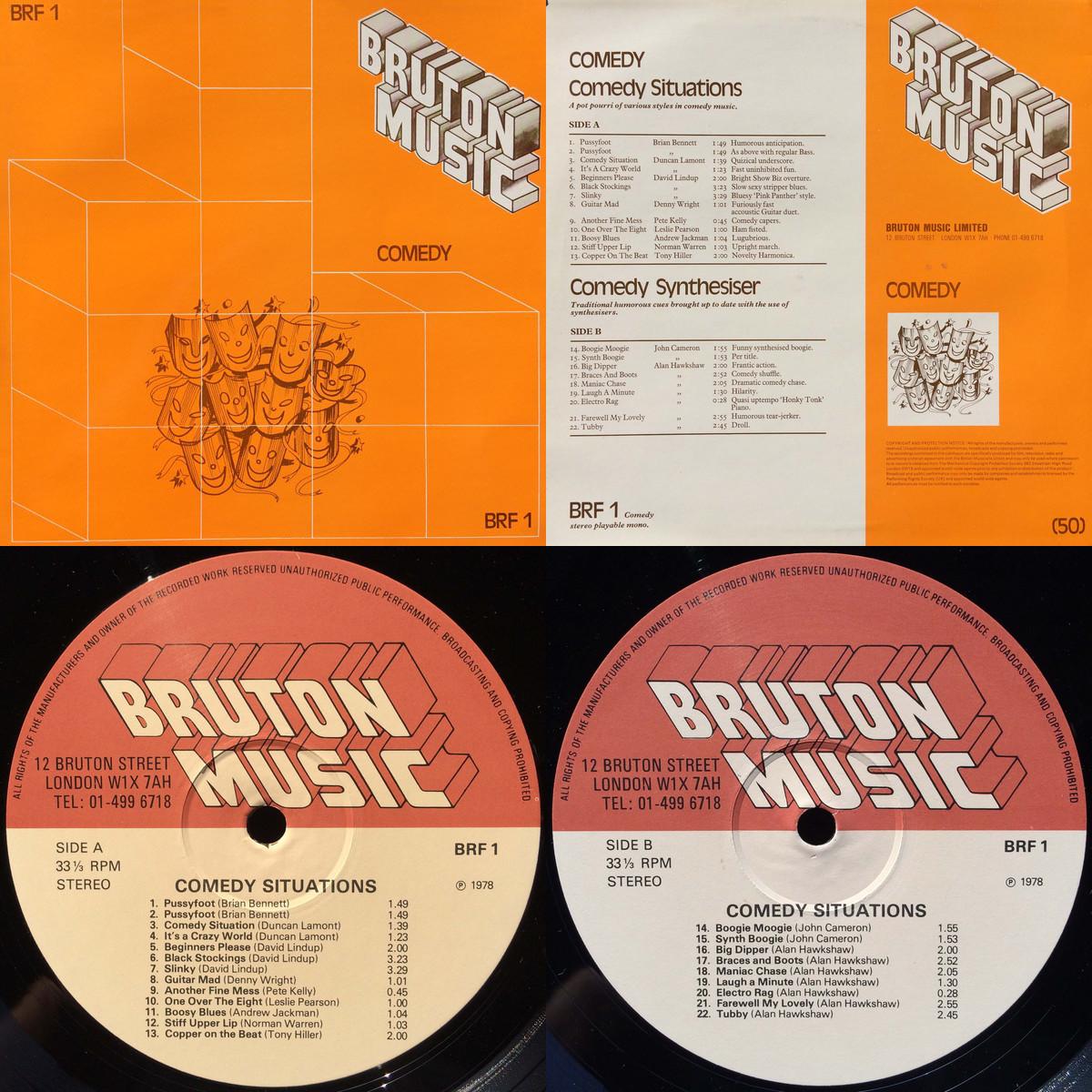 Imagens do LP Bruton Music - Comedy
