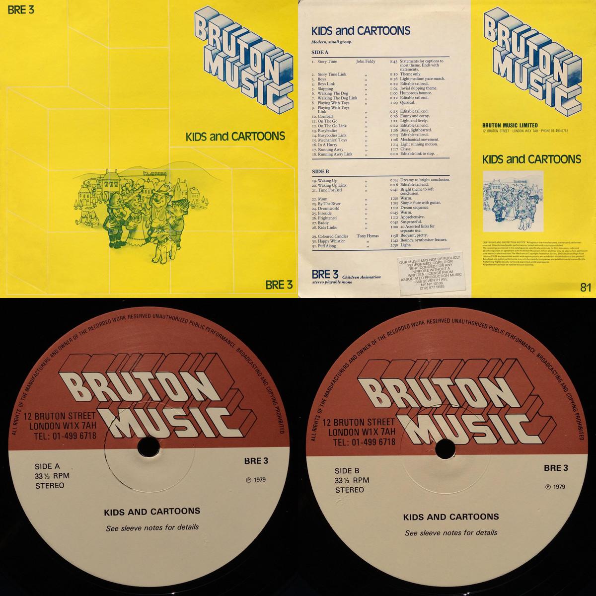 Imagens do LP Bruton Music - Kids and Cartoons