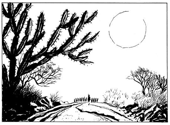 """Ilustração da HQ """"Os sertões - A luta"""", adaptação para os quadrinhos o clássico de Euclides da Cunha, com roteiro de Carlos Ferreira e desenho de Rodrigo Rosa"""