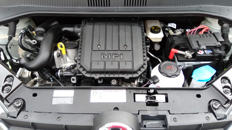 Motor do Volkswagen up! Foto: ViniRoger