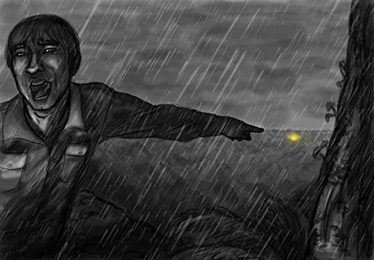 """Arte conceitual de """"A chuva interminável"""". Fonte: Homem metálico"""