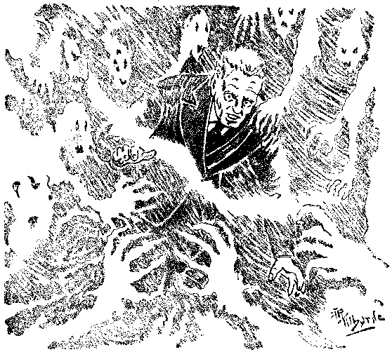 "Arte conceitual de ""O Vento"". Fonte: Weird Tales"