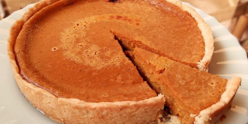 Torta de abóbora da receita. Foto: ViniRoger