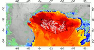 Imagem de satélite da duração recorde do relâmpago, Argentina, 4 de março de 2019