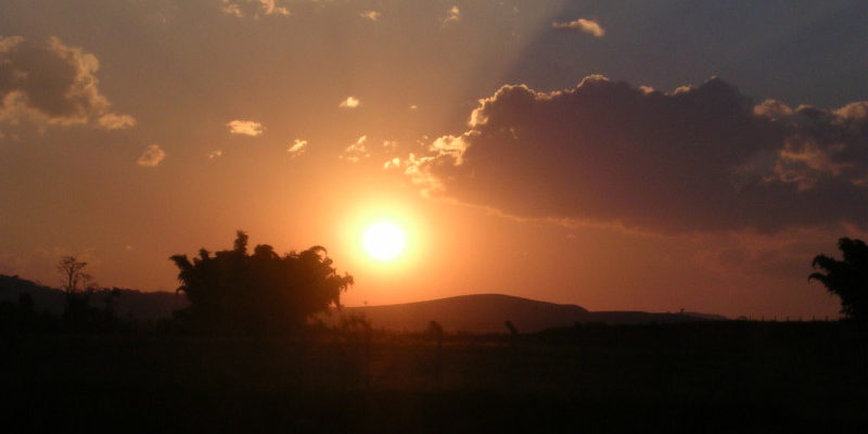 Pôr do sol. Foto: ViniRoger
