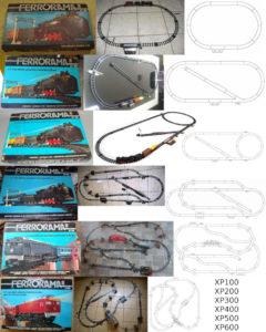Caixa, esquema e foto dos Ferroramas da primeira geração. Fonte: Naquele tempo