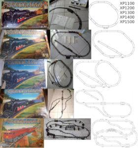 Caixa, esquema e foto dos Ferroramas da segunda geração. Fonte: Naquele tempo