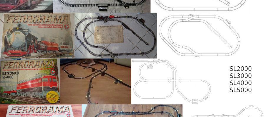 Caixa, esquema e foto dos Ferroramas da terceira geração. Fonte: Naquele tempo