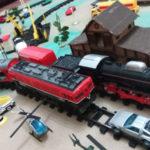 Cancela e trens