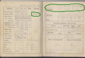 Folha da Caderneta de Observações Meteorológicas referente ao dia 25/06/1918. Fonte: Meteorópole https://meteoropole.com.br/2011/11/ja-ocorreu-neve-em-sao-paulo-sp/, cedido pela Estação Meteorológica do IAG/USP.