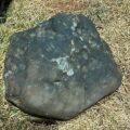 Meteorito com quase 40 kg que caiu no sertão pernambucano. Foto: Flávio Filo