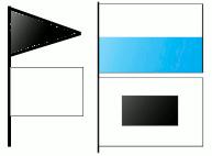 Exemplos de uso conjunto: tempo bom e temperatura subindo (esq.), tempo instável e temperatura em forte queda (dir.)