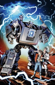 Transformers/Back to the Future #1. Fonte: IDW Publishing