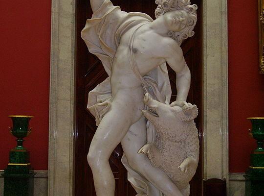 A morte de Adonis, por Giuseppe Mazzuoli (1709). Fonte: Wikipedia