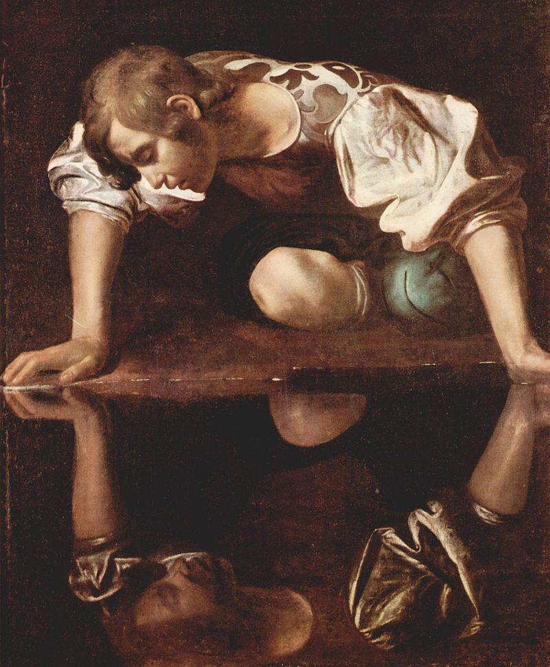 Narciso, de Caravaggio (1571-1610). Fonte: Wikipedia