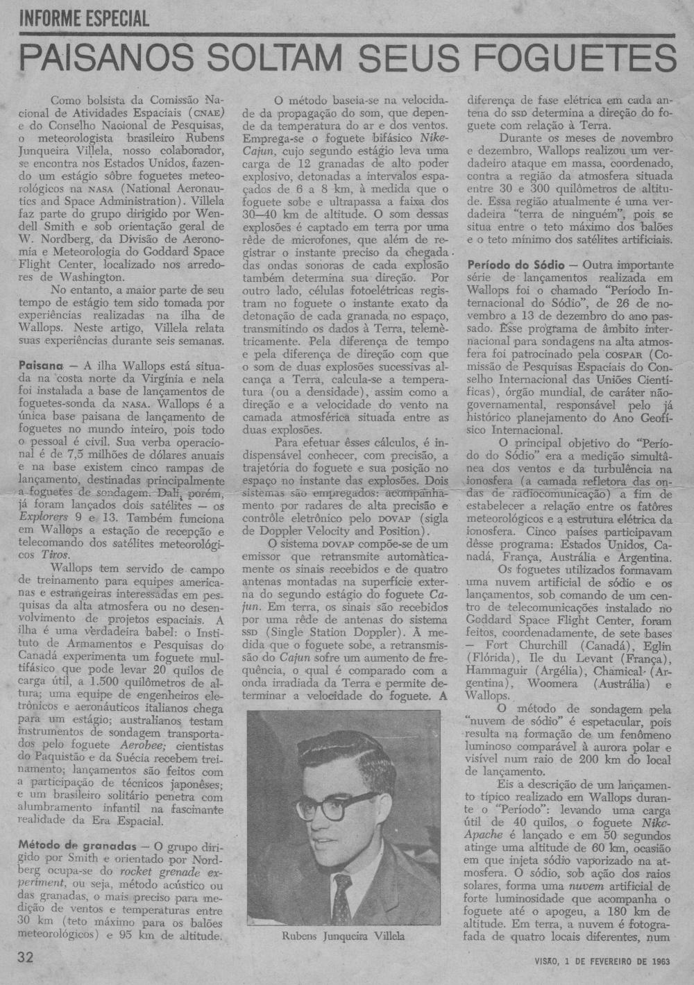 Primeira página do artigo de Villela na NASA