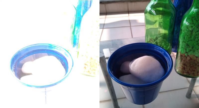 Fotos sem (esquerda) e com filtro ND 32 - Motorola g7 f/1,8 (1,69EV) 1/45s ISO400 4,0mm. Fotos: ViniRoger