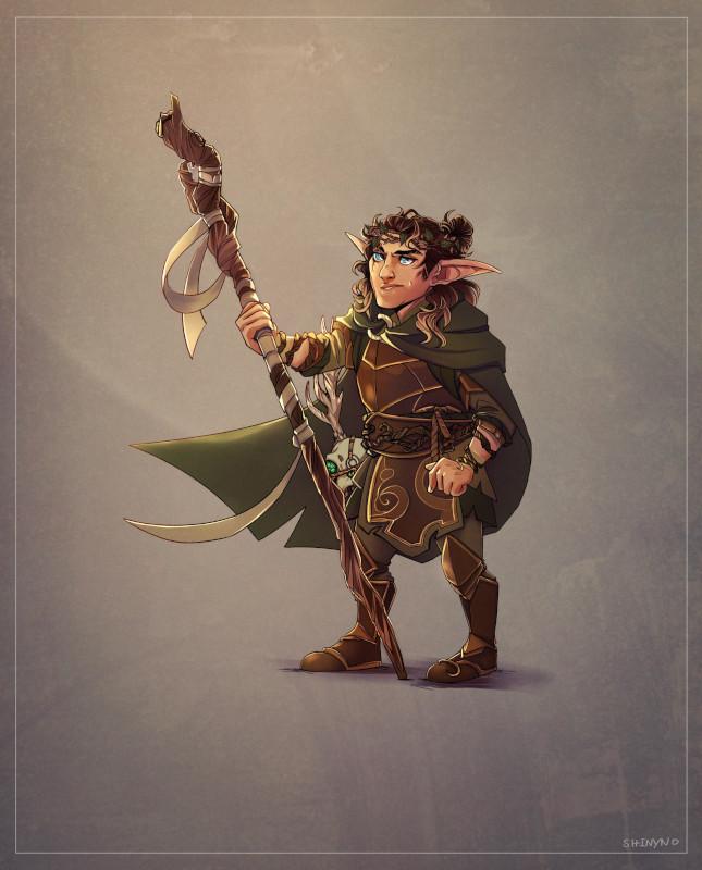 Ilustração de gnomo druida em D&D. Fonte: Shinyno