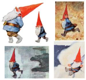 """Arte com ilustrações do livro """"Gnomos"""""""