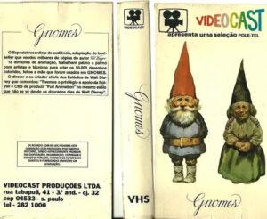 Capa do VHS dublado do filme Gnomos. Fonte: Mercado livre