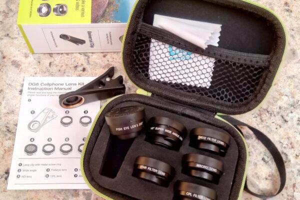 Kit de 6 lentes para câmera de smartphone. Foto: ViniRoger