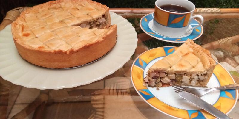 Torta de palmito da receita para forma de 22 cm de diâmetro. Foto: ViniRoger