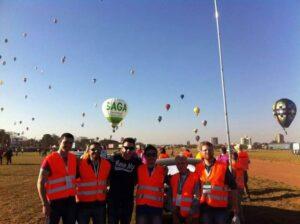 Parte da equipe de Meteorologia: Marcos, Brad, Daniel Faria, Edson Yatabe, Villela e Franco. Foto: Marcos Lourenço
