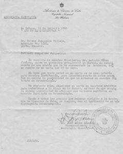 Carta da Academia de Ciências de Cuba (jul 1966)
