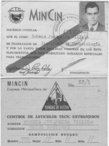 Documento como trabalhador cubano (1966)