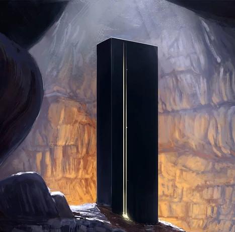 Monolito de obsidiana. Foto: Astrohanasia (Black Monolith)