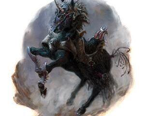 Unicórnio negro. Fonte: The Forgotten Realms Wiki