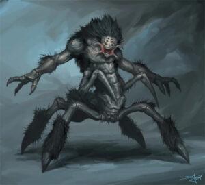 O aracno guerreiro Utiok. Fonte: Wiki Las Crónicas de Sinfín