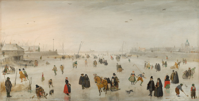 A Scene on the Ice - Hendrick Avercamp (1625). Fonte: National Gallery of Art