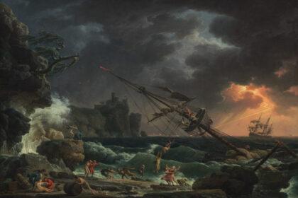 The Shipwreck - Claude-Joseph Vernet (1772). Fonte: National Gallery of Art