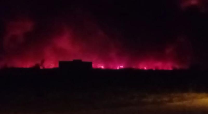 Incêndio próximo à BA-160 (22/09/2021). Foto: Evandro Batista Rodrigues Pereira