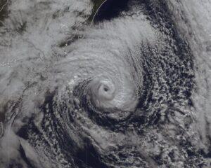 Ciclone subtropical Raoni. Fonte: EUMETSAT/Met Office