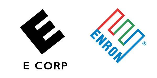 Logos da E corp e da Enron
