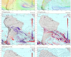 Mapas gerados para 29/07 00Z, horário aproximado de evento precipitações de inverno na região sul e geada na madrugada correspondente em outros locais da mesma região