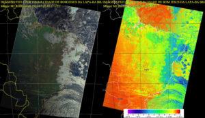 Imagens RGB e termal de uma passagem do satélite Meteor