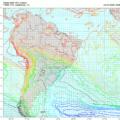 Mapa de vento e temperatura em 850 hPa na manhã de evento de geada em vários pontos da região Sul e SP, após evento de neve no Sul